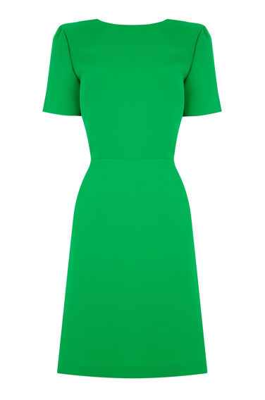 Warehouse, CROSS BACK DRESS Bright Green 0