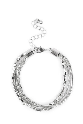 Warehouse, Multi Chain Bracelet Silver Colour 0