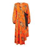 Warehouse, SONGBIRD WRAP MIDI DRESS Orange 0