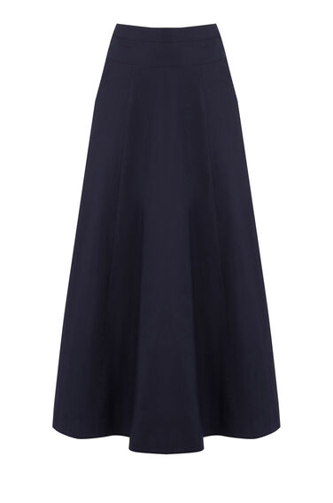 Warehouse, FULL MIDI SKIRT Navy 0