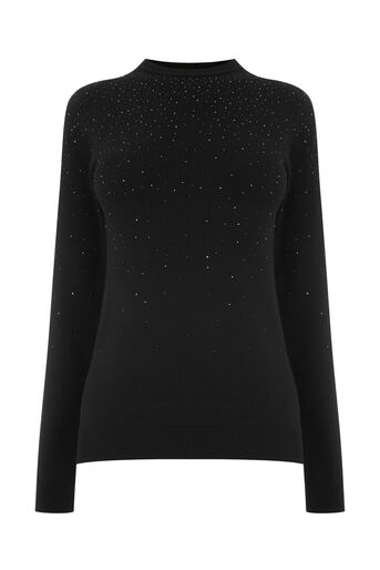 Warehouse, DIAMANTE JUMPER Black 0