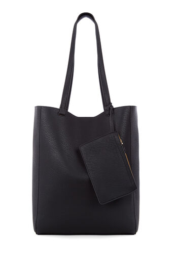 Warehouse, CASUAL FOLDED STITCH SHOPPER Black 0