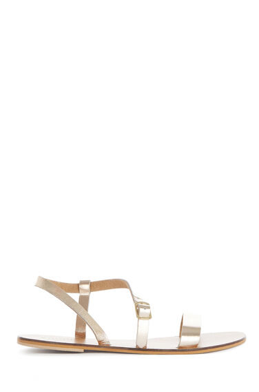 Warehouse, ASYMMETRIC STRAPPY SANDAL Copper Colour 0