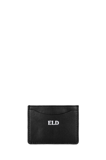 Warehouse, MONOGRAM LEATHER CARDHOLDER Black 0