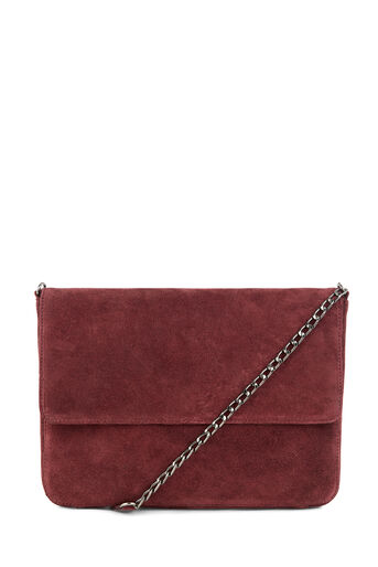 Warehouse, SUEDE ENVELOPE CROSSBODY Berry 0