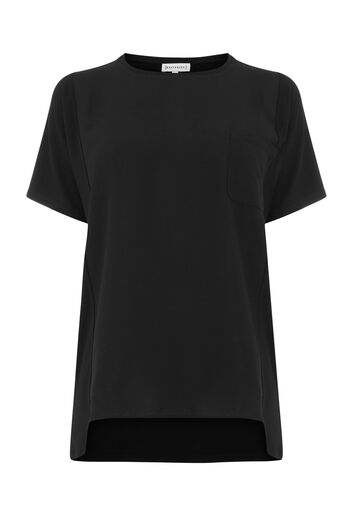 Warehouse, SMART WOVEN MIX POCKET TEE Black 0