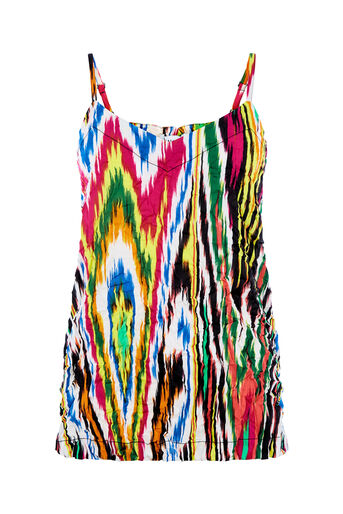 Warehouse, RAINBOW IKAT CRINKLE CAMI Multi 0