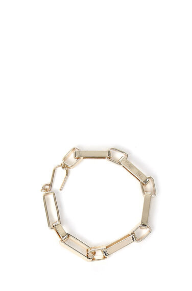 Warehouse, BOX CHAIN BRACELET Gold Colour 0