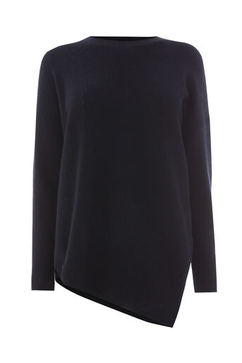 Warehouse, ASYMMETRIC RIB JUMPER Navy 0