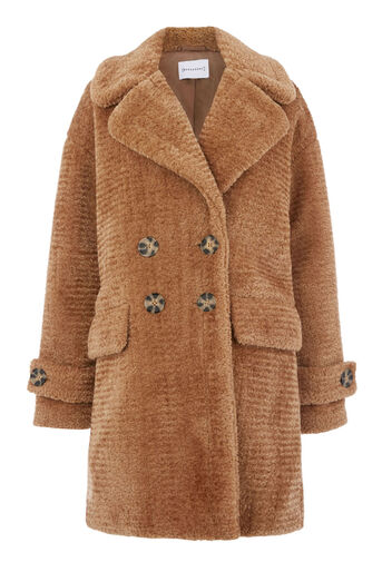 Warehouse, OVERSIZED TEDDY COAT Brown 0