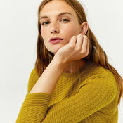Warehouse, RIPPLE STITCH JUMPER Mustard 4