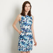 Warehouse, Shadow Leaf Textured Dress Multi 1