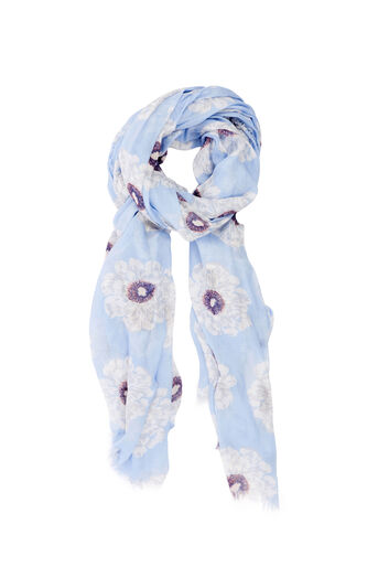 Warehouse, MELODY PRINT SCARF Light Blue 0