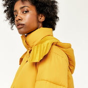 Warehouse, POCKET DETAIL PADDED COAT Mustard 4