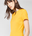 Warehouse, BOX PLEAT DRESS Yellow 4