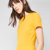 Warehouse, BOX PLEAT DRESS Yellow 4