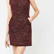 Warehouse, VICTORIA TWEED DRESS Bright Red 4