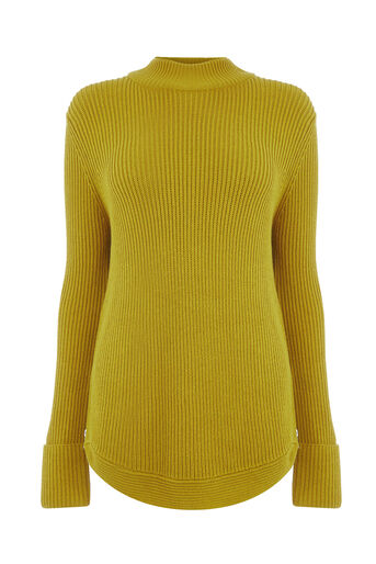 Warehouse, RIBBED ZIP SIDE JUMPER Lime 0