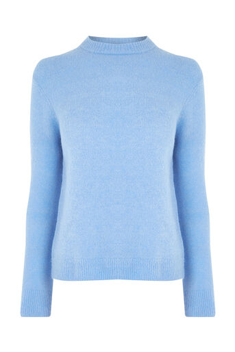 Warehouse, BOUCLE CREW JUMPER Light Blue 0