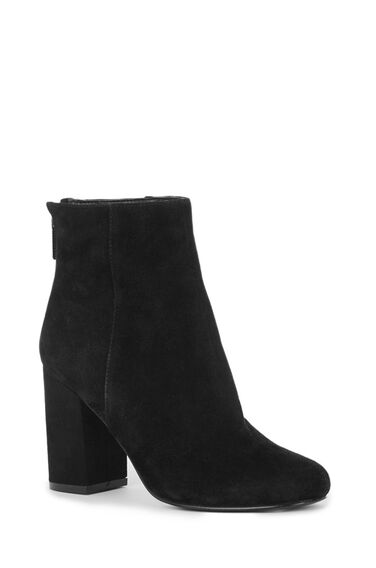 Warehouse, Zip Back Ankle Boot Black 0
