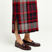 Warehouse, CHECK KNITTED SKIRT Red Pattern 4