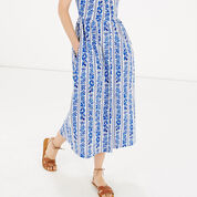 Warehouse, Printed Cami Midi Dress Blue Pattern 4
