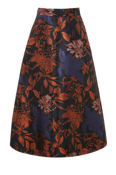 Warehouse, FLORAL JACQUARD PROM SKIRT Multi 0