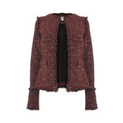 Warehouse, VICTORIA TWEED JACKET Bright Red 0
