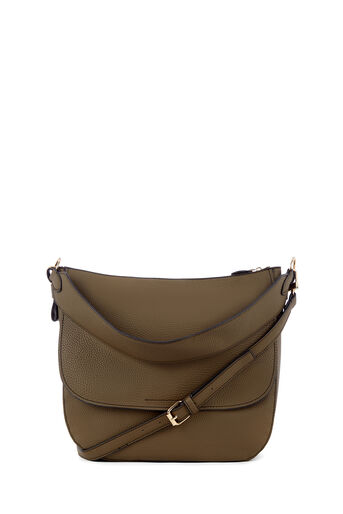 Warehouse, WIDE STRAP SHOULDER BAG Khaki 0