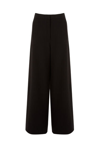 Warehouse, WIDE LEG TROUSER Black 0