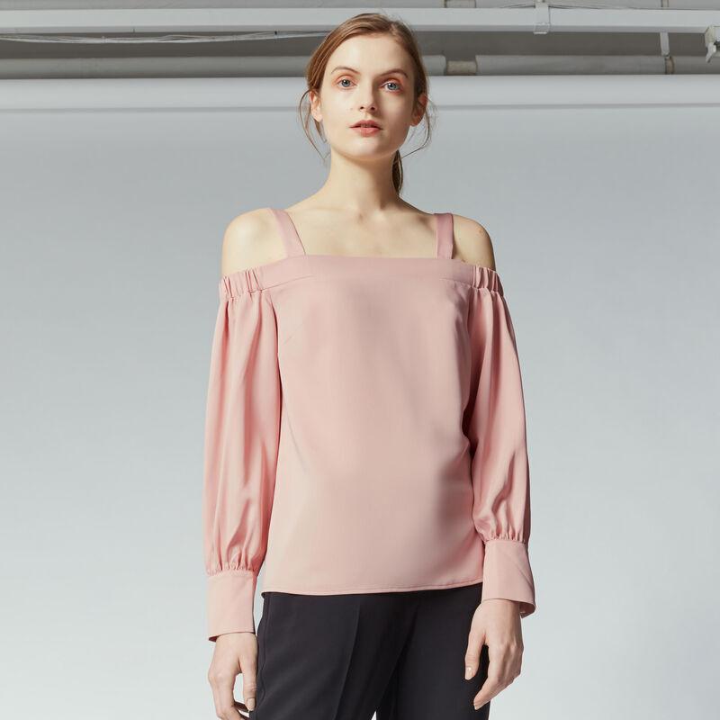 Warehouse, STRAPPY BARDOT TOP Light Pink 1