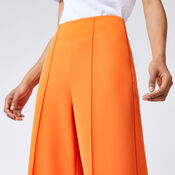 Warehouse, PINTUCK WIDE LEG TROUSERS Orange 4
