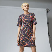 Warehouse, PAINTED FLORAL PONTE DRESS Multi 1