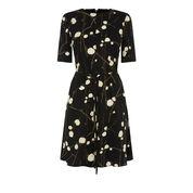 Warehouse, FIREFLY FLIPPY DRESS Black Pattern 0