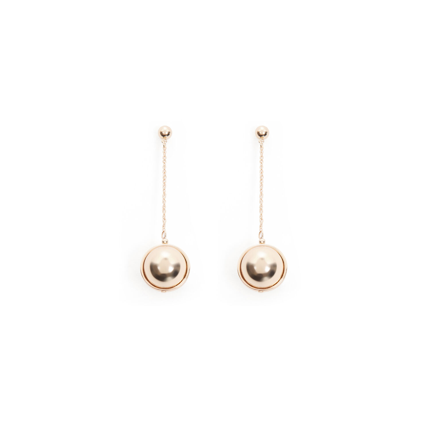 Warehouse, ORB DROP EARRINGS Gold Colour 1