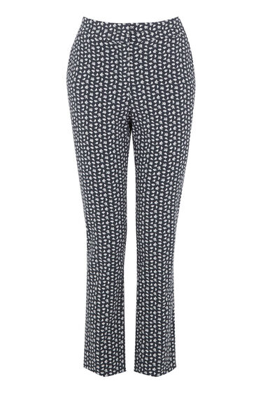 Warehouse, SQUIGGLE PRINT TROUSERS Navy 0