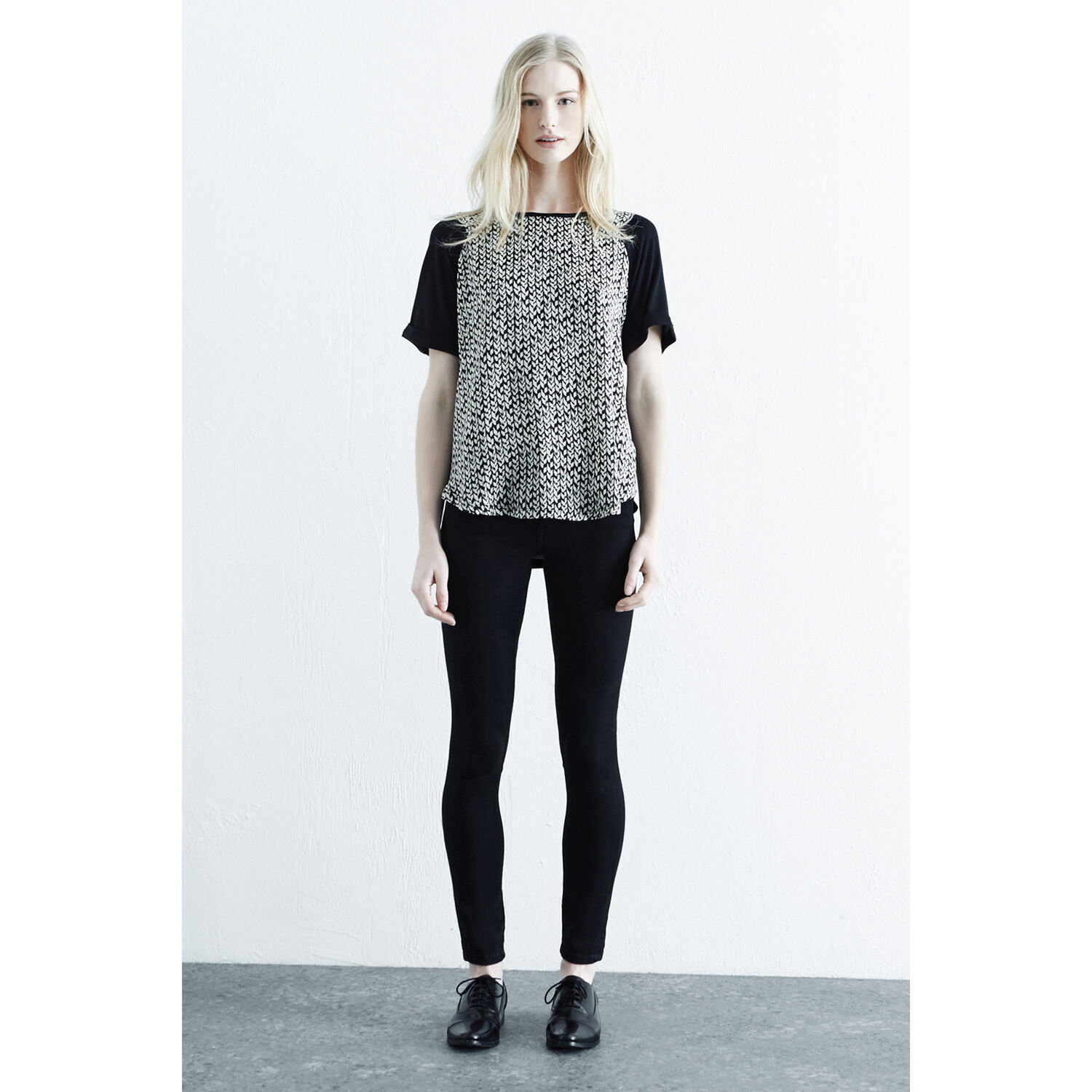 Warehouse, Geo Cable Woven Front Top Multi 1
