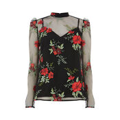 Warehouse, FLORAL EMBROIDERED TOP Multi 0