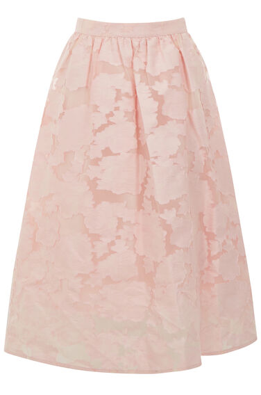 Warehouse, BURN OUT PROM SKIRT Light Pink 0