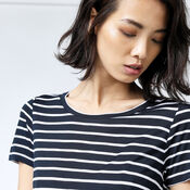 Warehouse, STRIPE SMART TEE Blue Stripe 4