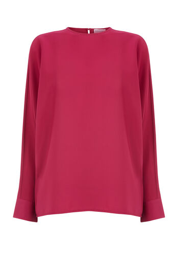 Warehouse, SLASH SLEEVE TOP Dark Pink 0