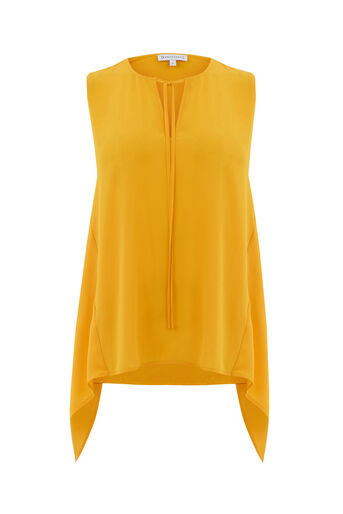 Warehouse, HANKY HEM SHELL TOP Yellow 0