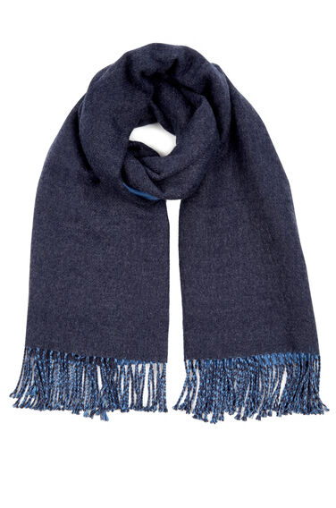 Warehouse, TWO TONE REVERSIBLE SCARF Navy 0