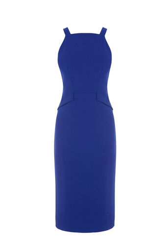 Warehouse, PINAFORE DRESS Bright Blue 0