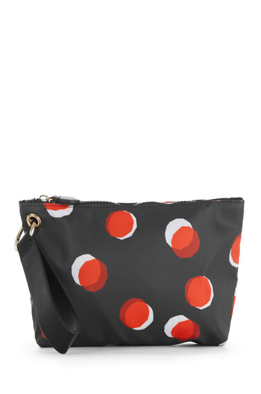Warehouse, TOFFEE PENNY MAKE UP BAG Black Pattern 0