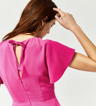 Warehouse, FLARED SLEEVE SKATER DRESS Bright Pink 4