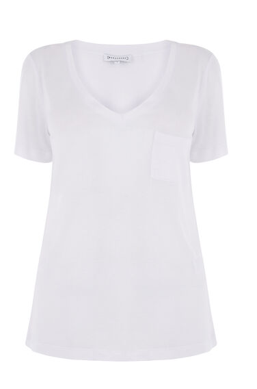 Warehouse, V NECK TEE White 0
