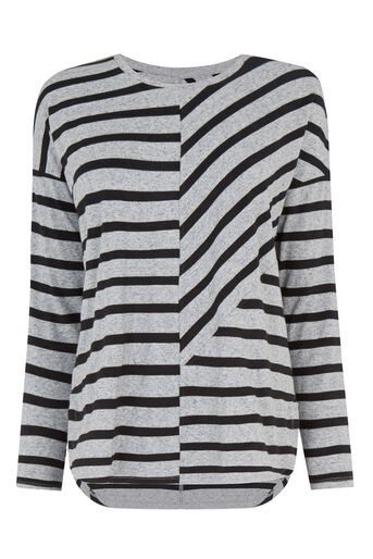 Warehouse, CUTABOUT STRIPE TOP Black Stripe 0