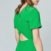 Warehouse, CROSS BACK DRESS Bright Green 4