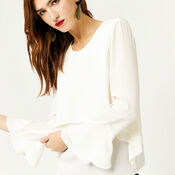 Warehouse, DOUBLE LAYER TOP Cream 4